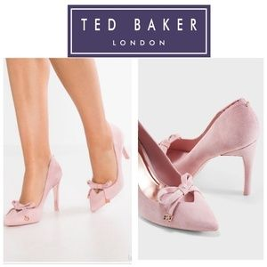 Ted Baker London Gewell Pointed Toe Bow Pump Pink